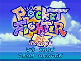 Title screen of Pocket Fighter on the MUGEN.
