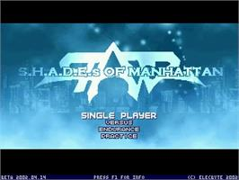 Title screen of Shades of Manhattan on the MUGEN.