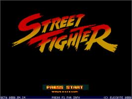 Title screen of Street Fighter 1 - Champion Edition on the MUGEN.