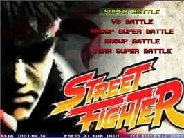 Title screen of Street Fighter Legends on the MUGEN.