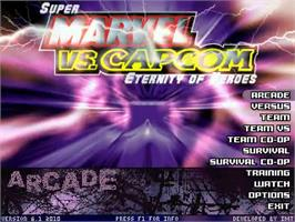Title screen of Super Marvel vs Capcom Eternity of Heroes on the MUGEN.