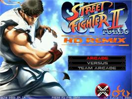 Title screen of Super Street Fighter 2 Turbo HD Remix on the MUGEN.