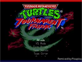 Title screen of TMHT Tournament Fighters on the MUGEN.