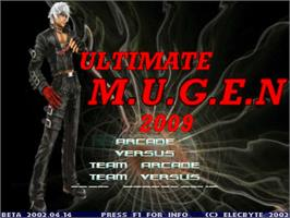 Title screen of Ultimate Mugen 2009 on the MUGEN.