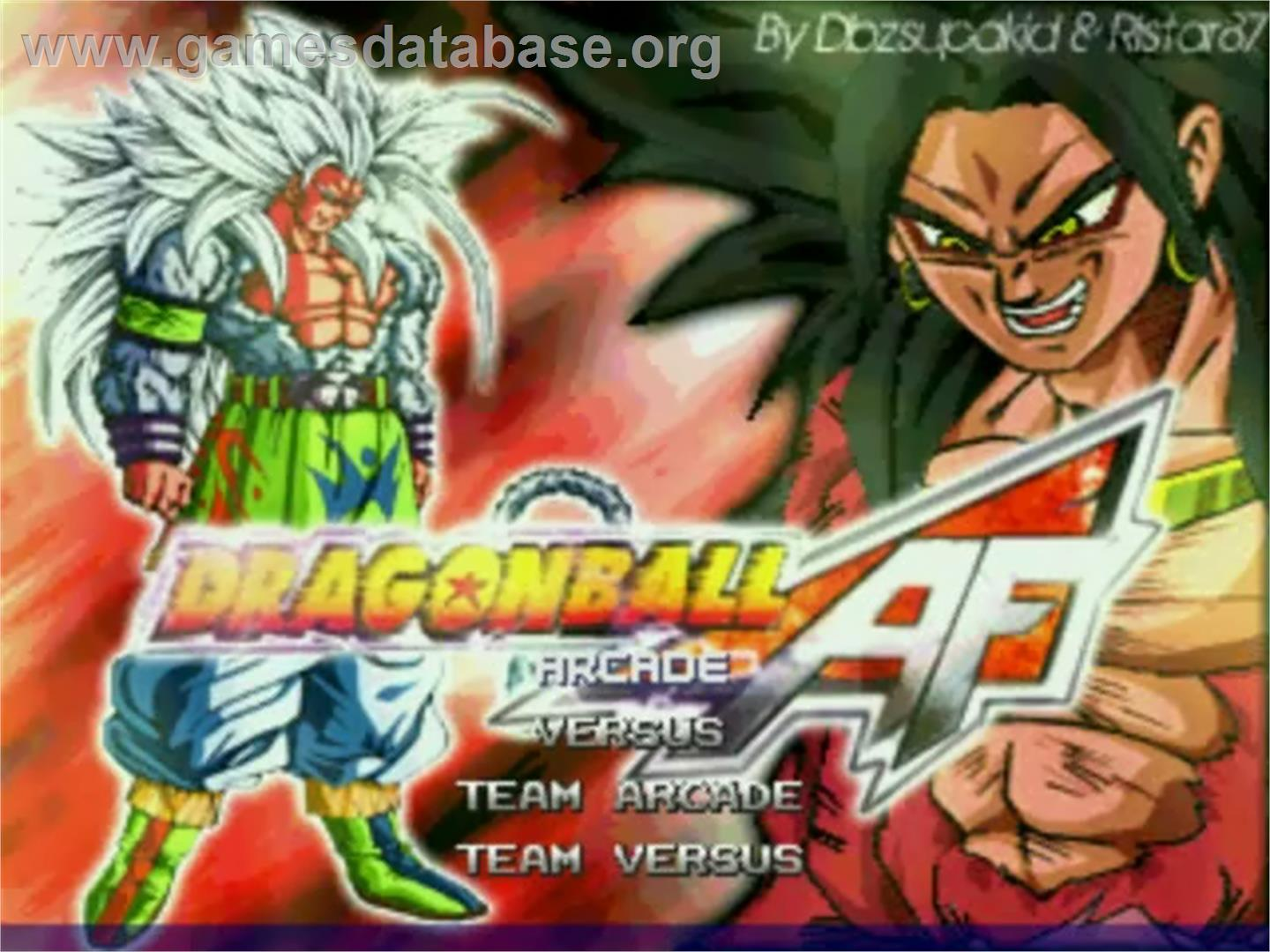 Dragon Ball AF - MUGEN - Artwork - Title Screen