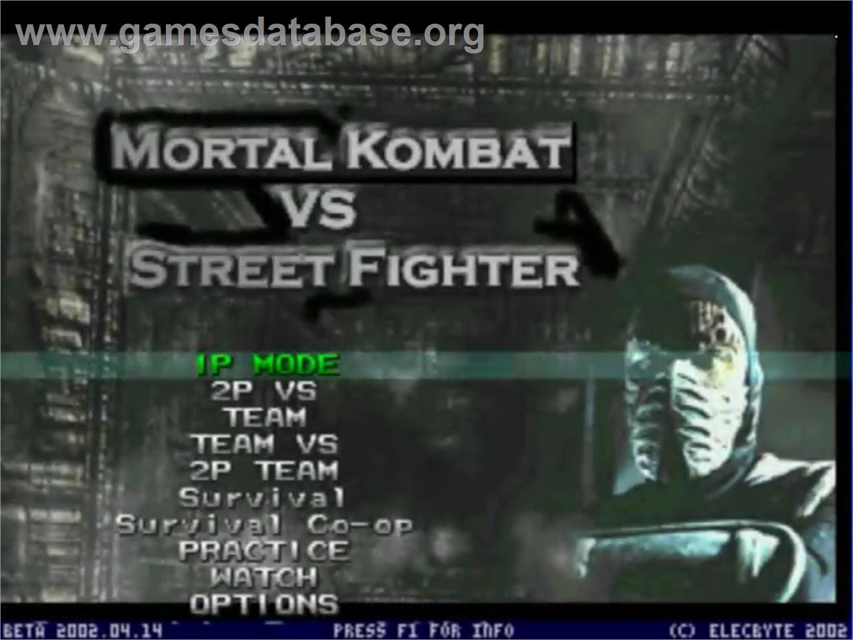 Mortal Kombat Vs Street Fighter Mugen Artwork Title Screen
