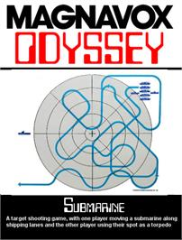Box cover for Submarine on the Magnavox Odyssey.