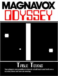 Box cover for Table Tennis on the Magnavox Odyssey.