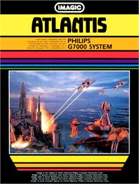 Box cover for Atlantis on the Magnavox Odyssey 2.