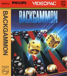 Box cover for Backgammon on the Magnavox Odyssey 2.