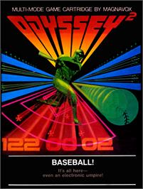 Box cover for Baseball! on the Magnavox Odyssey 2.