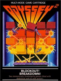 Box cover for Blockout/Breakdown on the Magnavox Odyssey 2.