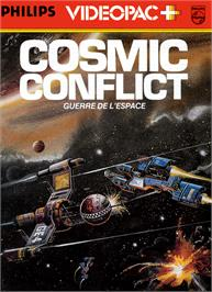Box cover for Cosmic Conflict! on the Magnavox Odyssey 2.
