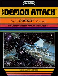 Box cover for Demon Attack on the Magnavox Odyssey 2.