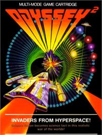Box cover for Invaders from Hyperspace! on the Magnavox Odyssey 2.