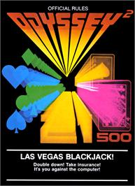 Box cover for Las Vegas Blackjack on the Magnavox Odyssey 2.