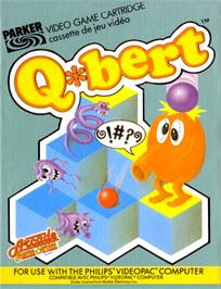 Box cover for Q*Bert on the Magnavox Odyssey 2.
