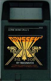 Cartridge artwork for Alpine Skiiing on the Magnavox Odyssey 2.