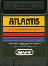 Cartridge artwork for Atlantis on the Magnavox Odyssey 2.