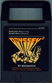 Cartridge artwork for Bowling! on the Magnavox Odyssey 2.