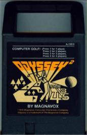 Cartridge artwork for Computer Golf! on the Magnavox Odyssey 2.