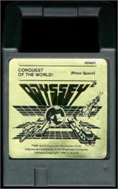 Cartridge artwork for Conquest of the World on the Magnavox Odyssey 2.