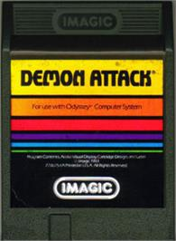 Cartridge artwork for Demon Attack on the Magnavox Odyssey 2.