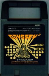 Cartridge artwork for Dynasty! on the Magnavox Odyssey 2.