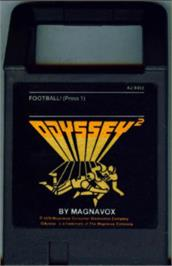 Cartridge artwork for Football! on the Magnavox Odyssey 2.