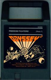 Cartridge artwork for Freedom Fighters on the Magnavox Odyssey 2.
