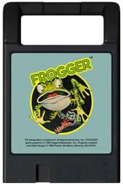 Cartridge artwork for Frogger on the Magnavox Odyssey 2.