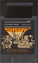 Cartridge artwork for K.C.'s Krazy Chase on the Magnavox Odyssey 2.