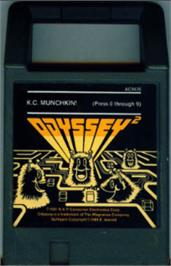 Cartridge artwork for K.C. Munchkin on the Magnavox Odyssey 2.
