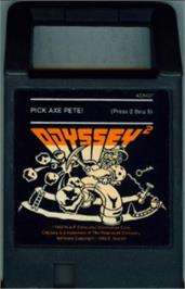 Cartridge artwork for Pick Axe Pete on the Magnavox Odyssey 2.