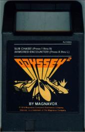 Cartridge artwork for Subchase on the Magnavox Odyssey 2.