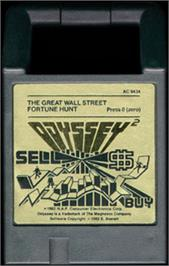 Cartridge artwork for The Great Wall Street Fortune Hunt on the Magnavox Odyssey 2.