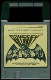 Cartridge artwork for The Quest for the Rings on the Magnavox Odyssey 2.