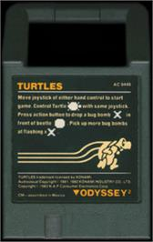 Cartridge artwork for Turtles on the Magnavox Odyssey 2.
