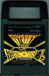 Cartridge artwork for UFO on the Magnavox Odyssey 2.