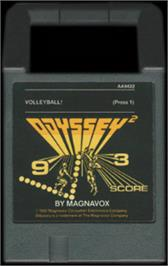 Cartridge artwork for Volleyball! on the Magnavox Odyssey 2.