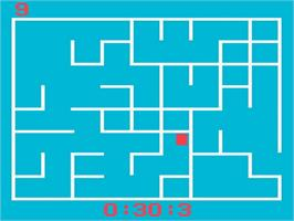 In game image of A Labyrinth Game- Supermind on the Magnavox Odyssey 2.