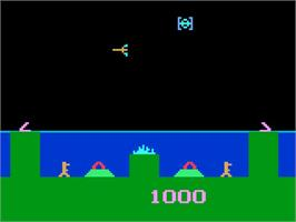 In game image of Atlantis on the Magnavox Odyssey 2.