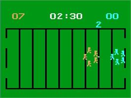 In game image of Football! on the Magnavox Odyssey 2.