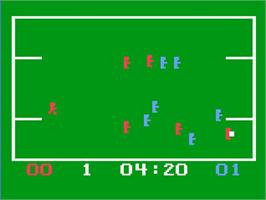 In game image of Hockey! / Soccer! on the Magnavox Odyssey 2.
