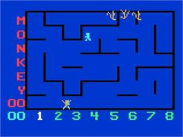 In game image of Monkeyshines! on the Magnavox Odyssey 2.
