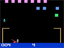 In game image of P.T. Barnum's Acrobats on the Magnavox Odyssey 2.