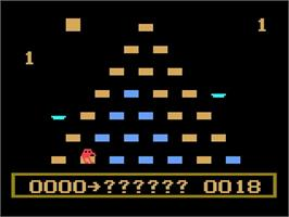 In game image of Q*Bert on the Magnavox Odyssey 2.