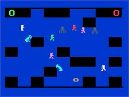 In game image of The Quest for the Rings on the Magnavox Odyssey 2.