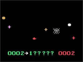 In game image of UFO on the Magnavox Odyssey 2.