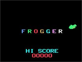 Title screen of Frogger on the Magnavox Odyssey 2.
